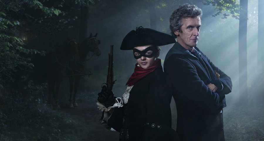 Picture shows: Peter Capaldi as the Doctor and Maisie Williams as the Highwayman
