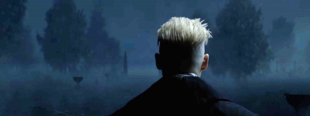 The nefarious Grindelwald has cool hair.